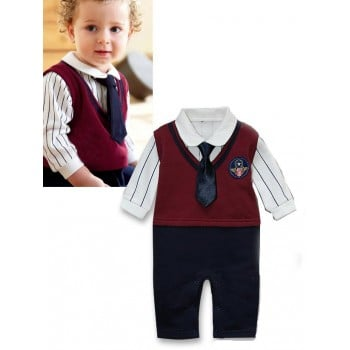 Air  Tie Boy Romper