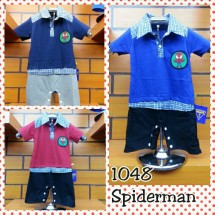 Romper Spiderman Kerah