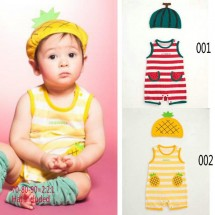 Watermelon Garis + Topi