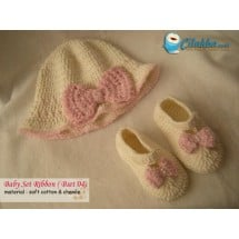 Baby Set Ribbon Crochet