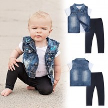 Denim Vest Set