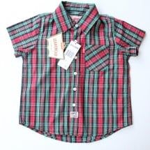 LEVI'S SHIRT RED GREEN