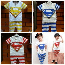 Setelan Superman Stripe