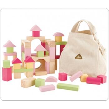 ELC Wooden Bricks Pink/Blue