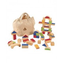 ELC Wooden Bricks Pink/Blue