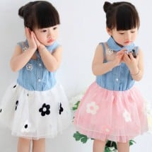 Dress Denim Flower